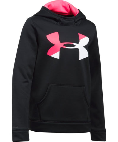 UNDER ARMOUR JR ARMOUR FLEECE F BIG LOGO HOODY BLACK/PINK