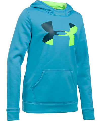 UNDER ARMOUR JR ARMOUR FLEECE F BIG LOGO HOODY BLUE