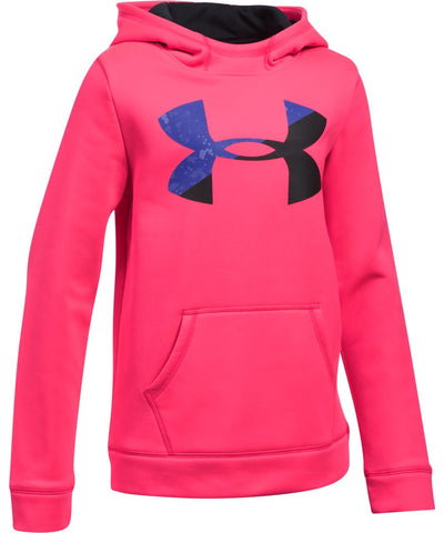 UNDER ARMOUR JR ARMOUR FLEECE F BIG LOGO HOODY PINK