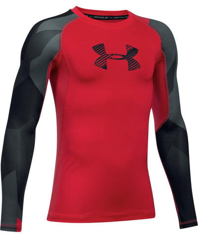 UNDER ARMOUR JR HG NOVELTY LONGSLEEVE RED