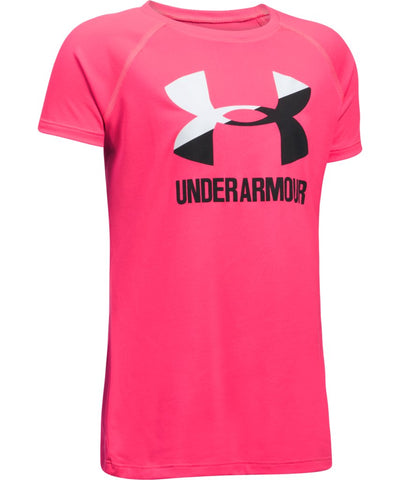 UNDER ARMOUR SOLID BIG LOGO SS T-SHIRT PINK