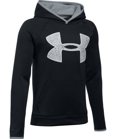 UNDER ARMOUR JR AF BIG LOGO HOODY BLACK