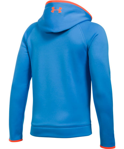 UNDER ARMOUR JR AF BIG LOGO HOODY BLUE/ORANGE