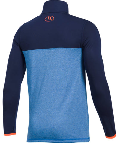 UNDER ARMOUR JR THREADBORNE 1/4 ZIP BLUE INFINITY