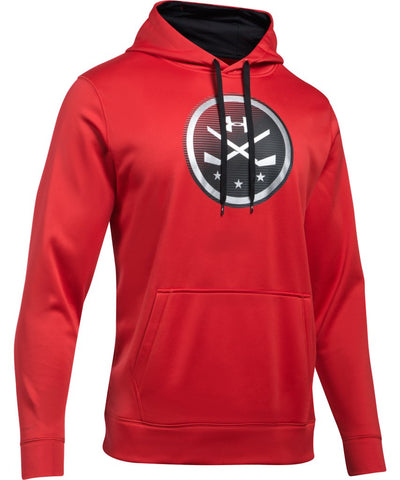 UNDER ARMOUR SR  HOCKEY ICON HOODY RED