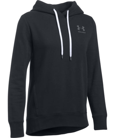UNDER ARMOUR FAV FLEECE PO LEFT CHEST BLACK