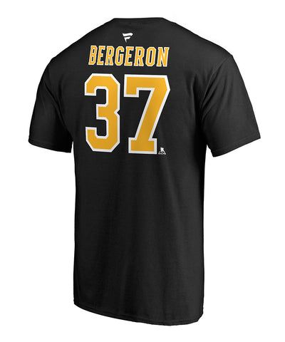 PATRICE BERGERON BOSTON BRUINS FANATICS MEN'S NAME & NUMBER T SHIRT