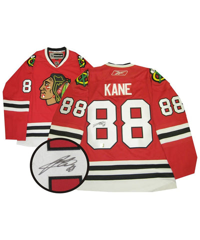 PATRICK KANE CHICAGO BLACKHAWKS FRAMEWORTH AUTHENTIC SIGNED JERSEY