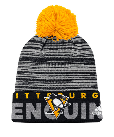 PITTSBURGH PENGUINS ADIDAS CUFFED POM KNIT BEANIE