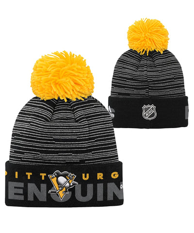PITTSBURGH PENGUINS ADIDAS JR CUFFED POM KNIT BEANIE