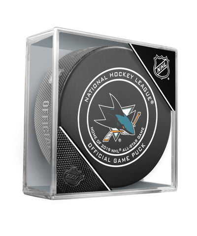 SAN JOSE SHARKS OFFICIAL 2018 NHL GAME PUCK
