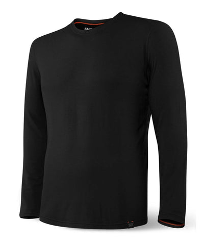 SAXX MEN'S SLEEPWALKER LONG SLEEVE SHIRT - BLACK