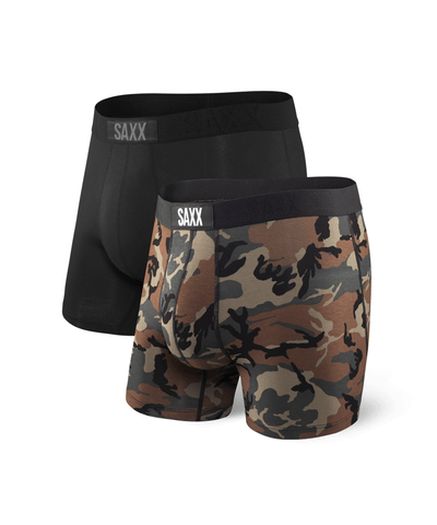 SAXX MEN'S VIBE BOXER - 2 PACK - BLACK/CAMO