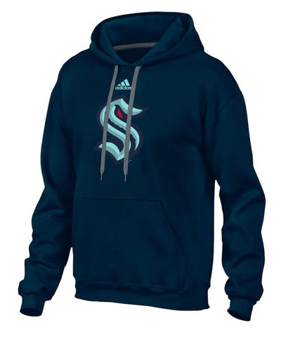 SEATTLE KRAKEN ADIDAS MEN'S PRIMARY LOGO HOODIE