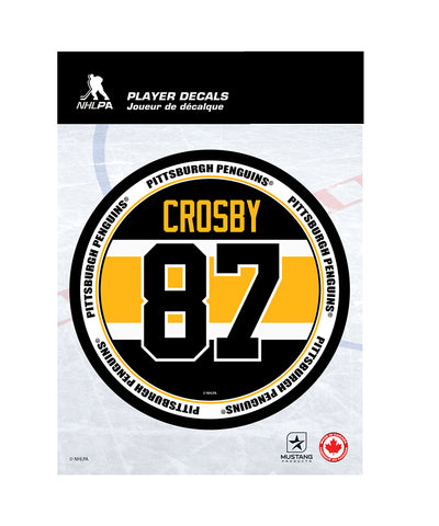 "SIDNEY CROSBY PITTSBURGH PENGUINS 5""X7"" PLAYER DECAL"