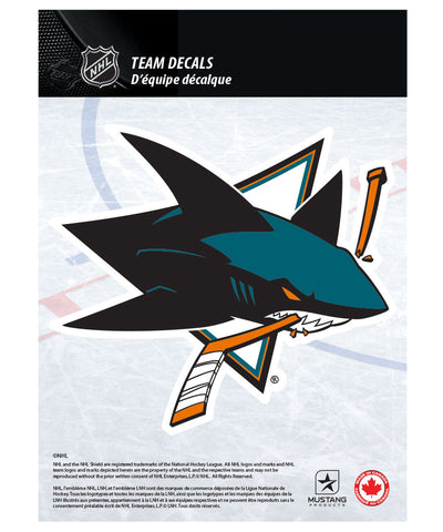 "SAN JOSE SHARKS 5"" X 7"" NHL TEAM DECAL"