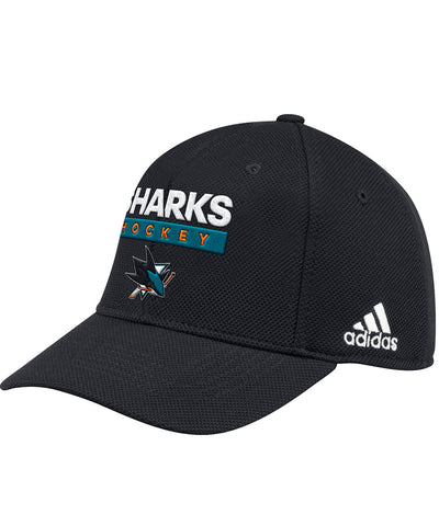 SAN JOSE SHARKS ADIDAS OFFICIAL 2018 NHL PLAYOFFS CAP