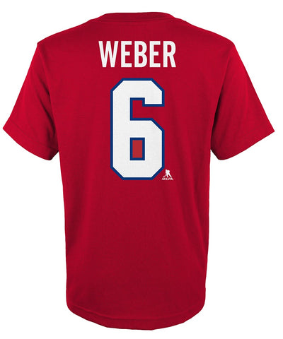 SHEA WEBER MONTREAL CANADIENS JUNIOR PLAYER T SHIRT