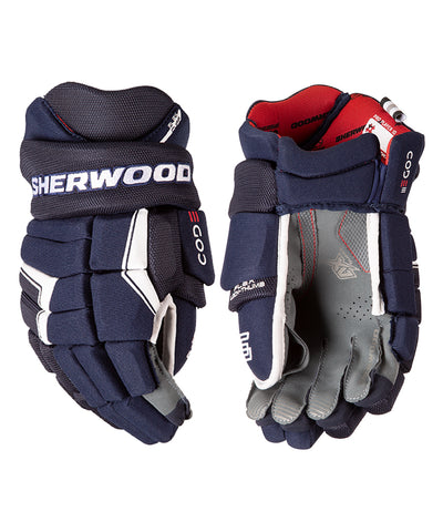 SHERWOOD CODE III JUNIOR HOCKEY GLOVES