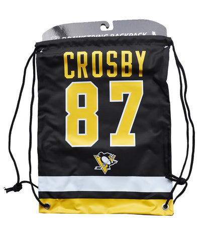 SIDNEY CROSBY PITTSBURGH PENGUINS DRAWSTRING LOGO BAG
