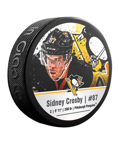 SIDNEY CROSBY PITTSBURGH PENGUINS NHL HOCKEY PUCK
