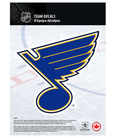 "ST. LOUIS BLUES 5"" X 7"" NHL TEAM DECAL"