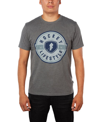 GONGSHOW MEN'S LIVING IN STYLE T SHIRT - GREY