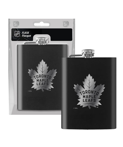 TORONTO MAPLE LEAFS 8OZ FLASK - LASER ETCH