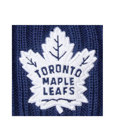TORONTO MAPLE LEAFS FANATICS MEN'S RINKSIDE GOALIE POM BEANIE TOQUE