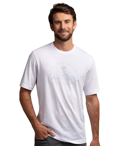 TRAVISMATHEW MEN'S FOOD CHAIN T SHIRT - WHITE