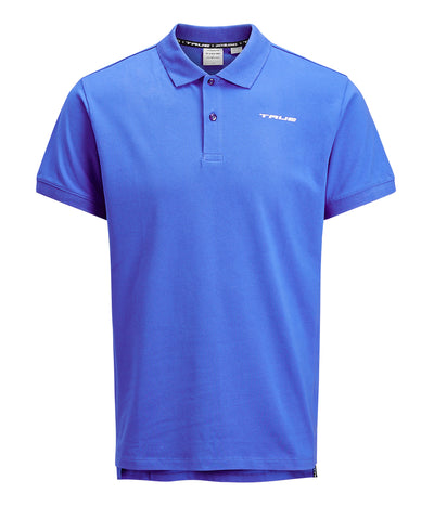 TRUE X JACK JONES MEN'S BELFAST POLO - BLUE