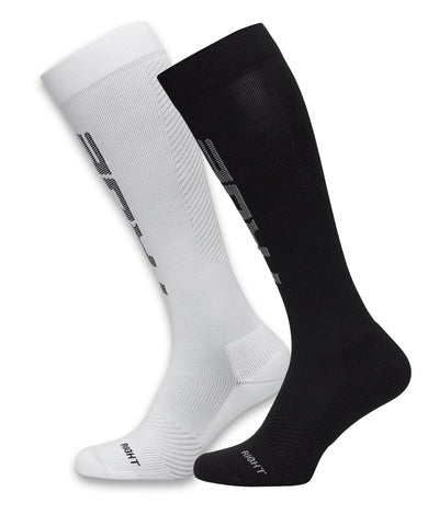 TRUE X JACK JONES MEN'S COMPRESSION SOCKS - BLACK/WHITE