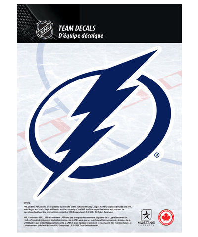 "TAMPA BAY LIGHTNING 5"" X 7"" NHL TEAM DECAL"