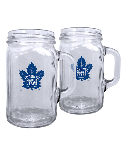 TORONTO MAPLE LEAFS 2PK 16OZ MASON MUG SET