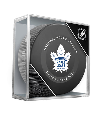 TORONTO MAPLE LEAFS 2019 OFFICIAL GAME PUCK
