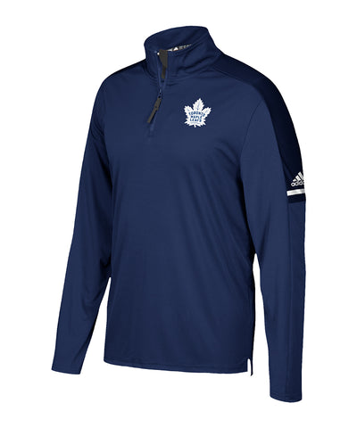 TORONTO MAPLE LEAFS ADIDAS MEN'S AUTHENTIC PRO 1/4 ZIP