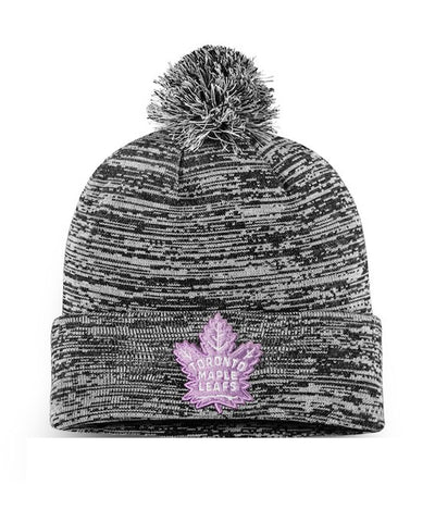TORONTO MAPLE LEAFS FANATICS MEN'S HOCKEY FIGHTS CANCER 2018 CUFFED KNIT TOQUE
