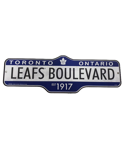 THE SPORTS VAULT TORONTO MAPLE LEAFS STANDARD STREET SIGN