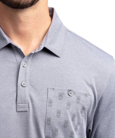 TRAVISMATHEW MEN'S CAN CAN POLO - GREY