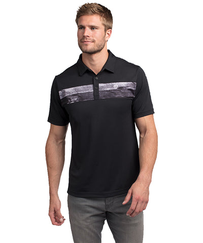TRAVIS MATHEW MEN'S NO LAYING UP POLO - BLACK