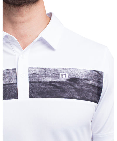 TRAVIS MATHEW MEN'S NO LAYING UP POLO - WHITE