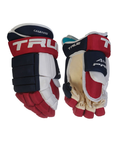 TRUE A6.0 SBP PRO STOCK HOCKEY GLOVES - MONTREAL CANADIENS