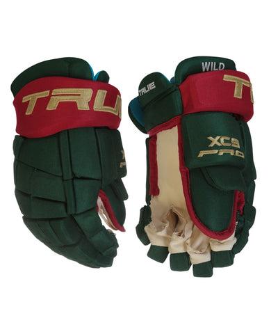 TRUE XC9 PRO STOCK HOCKEY GLOVES - MINNESOTA WILD