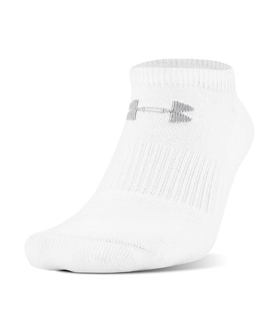 UNDER ARMOUR KIDS CC 2.0 NO SHOW SOCKS 6-PACK - WHITE