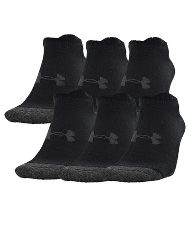 UNDER ARMOUR KID'S PERFORM TECH NO SHOW 6 PACK - BLACK