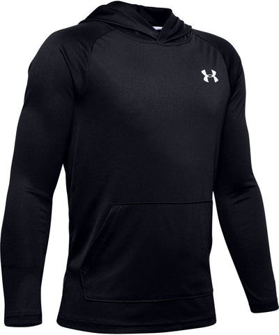 UNDER ARMOUR KID'S TECH 2.0 HOODIE - BLACK
