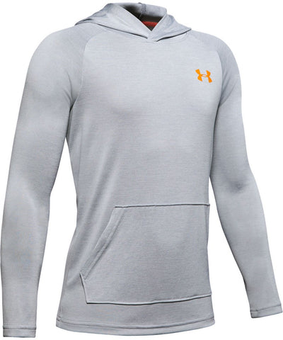 UNDER ARMOUR KID'S TECH 2.0 HOODIE - GREY