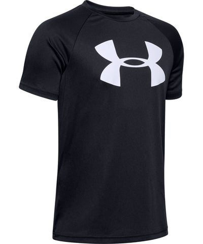 UNDER ARMOUR KID'S TECH BIG LOGO T SHIRT - BLACK