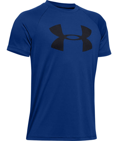 UNDER ARMOUR KID'S TECH BIG LOGO T SHIRT - BLUE