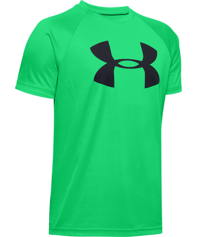 UNDER ARMOUR KID'S TECH BIG LOGO T SHIRT - GREEN